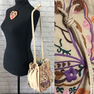 Lucky Brand Canvas Embroidered Bag